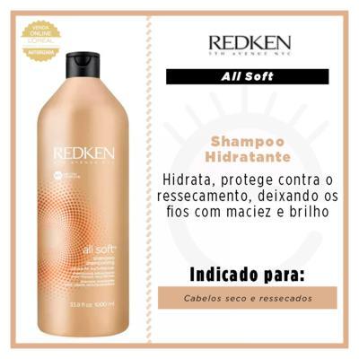 Imagem 3 do produto Redken All Soft Shampoo - Redken All Soft Shampoo 1000ml