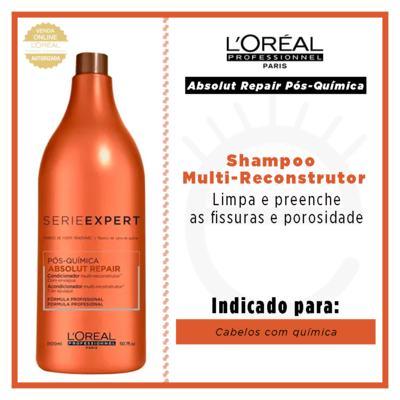 Imagem 2 do produto L'Oréal Professionnel Absolut Repair Pós-Química - Shampoo Multi-Reconstrutor - 1500ml