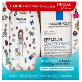 Kit Effaclar Sabonete Concentrado + Saboneteira - 70g | Gratis Saboneteira