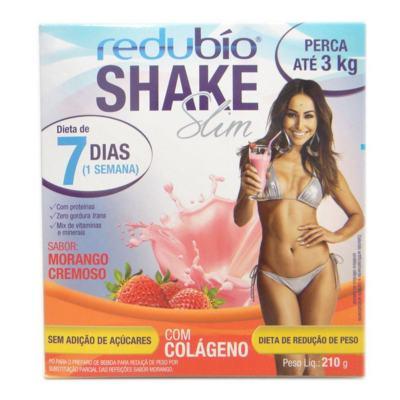 Redubío Shake Slim 210g  Sabor Morango - Redubío Shake Slim 210g Sabor Morango
