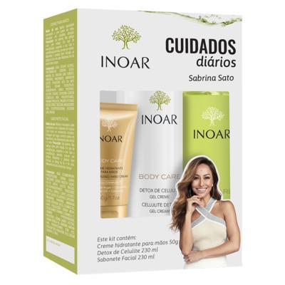 Imagem 1 do produto Inoar Body Care Cuidado Diário Kit - Creme + Sabonete + Gel Creme - Kit