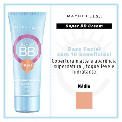 Imagem 4 do produto Base Facial Maybelline Super BB Cream - Médio