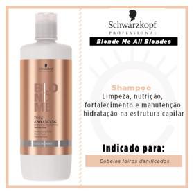 Schwarzkopf BlondMe Cool Blonde - Shampoo - 1L