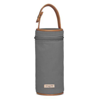 Imagem 4 do produto Bolsa Passeio para bebe + Bolsa Ibiza + Porta Mamadeira em sarja Adventure Chumbo - Classic for Baby Bags