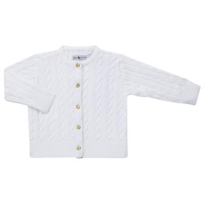 Imagem 1 do produto Casaquinho para bebe em tricot trançado Branco - Mini Sailor - 75404260 CASAQUINHO BASICO TRANÇADO TRICOT BRANCO -6-9