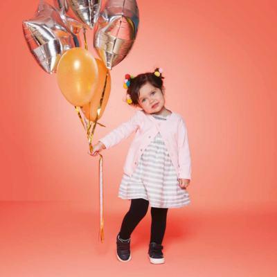 Imagem 3 do produto Meia calça para bebe em algodão Preto - Puket - PK2401L-P MEIA CALCA BABY LISA PRETO-1-3 anos