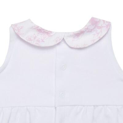 Imagem 3 do produto Macacão regata para bebe em algodão egípcio Toile du Jouy - Bibe - 41D05-A53 BANHO DE SOL FEM GERANIO-G