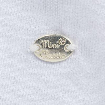 Imagem 3 do produto Vestido c/ Bolero para bebe em fustão Branco - Mini & Classic - 1425659 VESTIDO COM BOLERO TRICOLINE/BRANCO-M