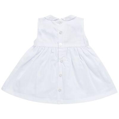 Imagem 6 do produto Vestido c/ Bolero para bebe em fustão Branco - Mini & Classic - 1425659 VESTIDO COM BOLERO TRICOLINE/BRANCO-M