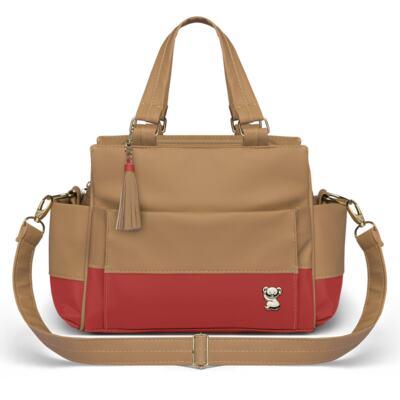 Imagem 4 do produto Mala Maternidade para bebe + Bolsa Genebra + Frasqueira Térmica Zurique + Trocador Portátil Due Colore Coral - Classic for Baby Bags