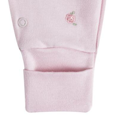 """Imagem 2 do produto Macacão longo c/ abertura """"S"""" para bebe em algodão egípcio Princess Bear - Mini & Classic - 2004655 MACACAO S C/ PE REVERSIVEL SUEDINE URSA-P"""