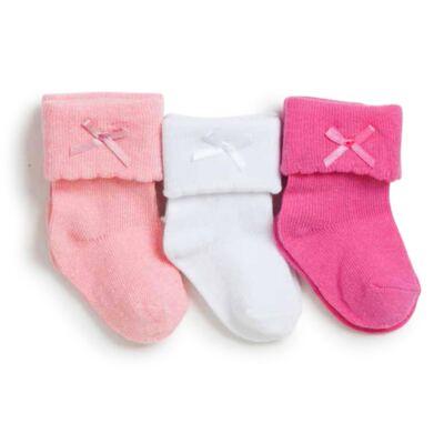 Imagem 1 do produto Kit com 3 meias Soquete para bebe Rosa - Puket