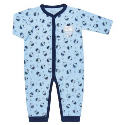 Imagem 1 do produto Macacão longo para bebe em suedine Elefantinho - Tilly Baby - TB16831.03 MACACAO ML MASC ELEFANTINHOS -M