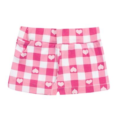 Imagem 3 do produto Body regata com Shorts balonê para bebe Peach - Time Kids - TK5054.RS CONJUNTO BODY E SHORTS XADREZ ROSA-M