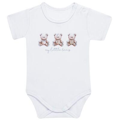 Imagem 3 do produto Pack: 02 Bodies curtos para bebe em algodão egípcio c/ jato de cerâmica Prince Bear - Mini & Classic - 1024656 PACK 2 BODIES MC SUEDINE URSO -P