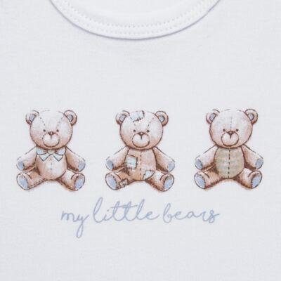 Imagem 4 do produto Pack: 02 Bodies curtos para bebe em algodão egípcio c/ jato de cerâmica Prince Bear - Mini & Classic - 1024656 PACK 2 BODIES MC SUEDINE URSO -P