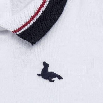Imagem 2 do produto Body Polo em cotton touch Branco - Mini Sailor