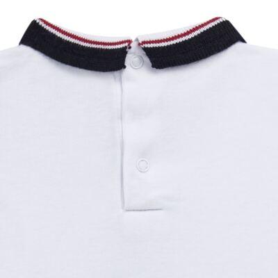 Imagem 3 do produto Body Polo em cotton touch Branco - Mini Sailor