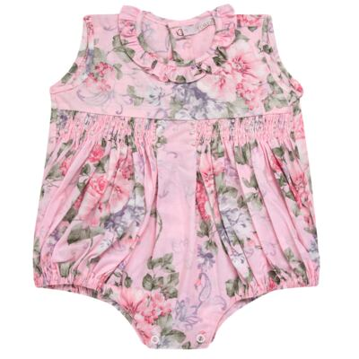 Imagem 1 do produto Macacão curto para bebe em tricoline Floral Deluxe - Roana - PIML0898046 PIMPAO LUXO ROSA -M