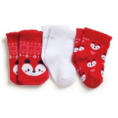 Imagem 1 do produto Kit com 3 meias Soquete recém-nascido Raposinha - Puket