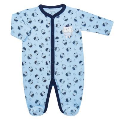 Imagem 1 do produto Macacão longo para bebe em suedine Elefantinho - Tilly Baby - TB16831.03 MACACAO ML MASC ELEFANTINHOS -RN