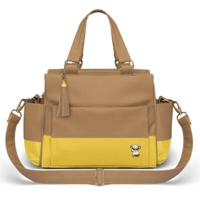 Imagem 4 do produto Mala Maternidade para bebe + Bolsa Genebra + Frasqueira Térmica Zurique + Trocador Portátil Due Colore Amarelo - Classic for Baby Bags