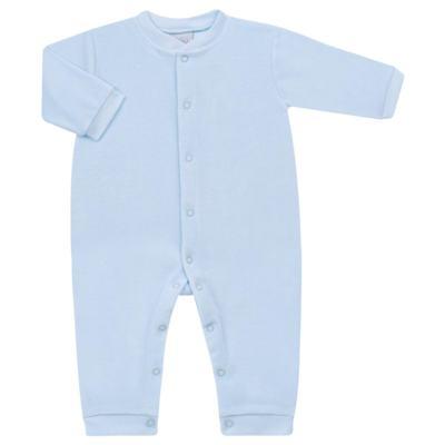 Imagem 1 do produto Macacão longo para bebe em plush Azul - Tilly Baby - TB13172.09 MACACAO BASICO DE PLUSH AZUL BEBE-GG