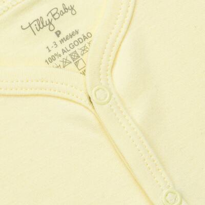 Imagem 2 do produto Casaco para bebe em suedine Amarelo - Tilly Baby - TB13115.07 CASACO SUEDINE AMARELO-RN