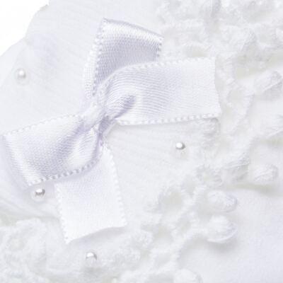 Imagem 2 do produto Meia para bebe Renda Laço & Pérolas Branca - Roana - 15830004001 Meia Bordada branco-RN