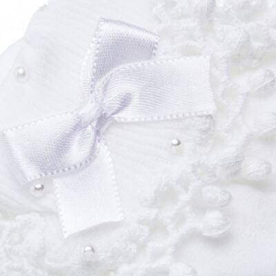 Imagem 2 do produto Meia para bebe Renda Laço & Pérolas Branca - Roana - 15830004001 Meia Bordada branco-M