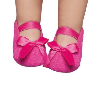 Imagem 1 do produto Meia sapatilha para bebe em soft Pink - Puket - PK6979L-PK Sapatilha Soft Lisa Pink-9/12