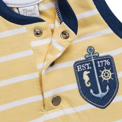 Imagem 3 do produto Macacão regata para bebe em malha Ocean Spirit - Mini & Classic - 9003666 MACACAO REGATA MALHA SUMMER-M
