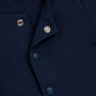 Imagem 2 do produto Casaco em algodão egípcio Marinho - Bibe - 10M03-15 CASACO BASICO CRISTAL MARINHO -P
