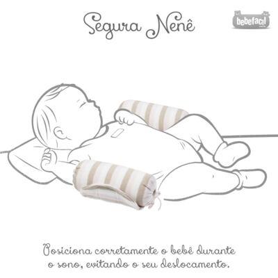 Imagem 7 do produto Kit Berço: Rolinhos Laterais + Rolinho Cabeceira + Manta + Segura nenê Napolitan - Petit