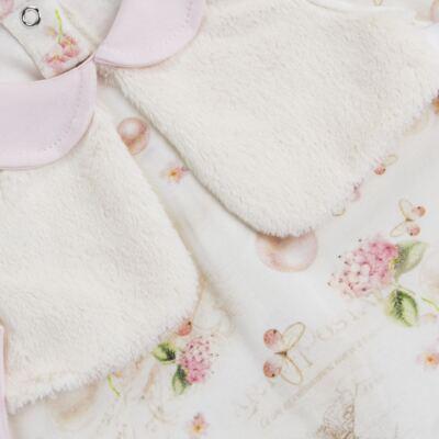 Imagem 2 do produto Macacão Colete para bebe em suedine Pearls - Bibe - 38C07-G42 MACACAO FEMININO ML -M