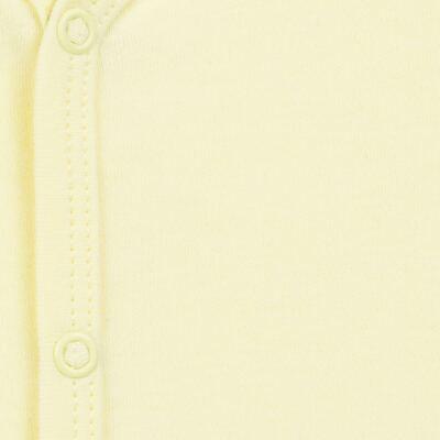 Imagem 2 do produto Macacão longo para bebe em suedine Amarelo - Tilly Baby - TB13113.07 MACACAO BASICO DE SUEDINE AMARELO-RN