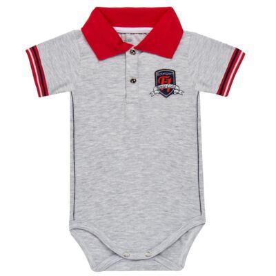 Imagem 1 do produto Body polo para bebe em cotton Race - Mini & Classic - BDBP668 BODY POLO AVULSO COTTON GRAND PRIX-G