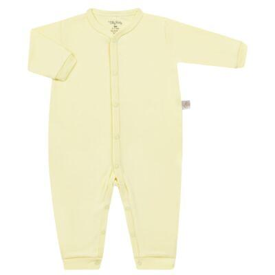 Imagem 1 do produto Macacão longo para bebe em suedine Amarelo - Tilly Baby - TB13113.07 MACACAO BASICO DE SUEDINE AMARELO-M