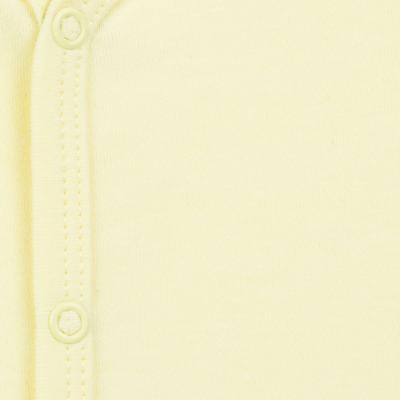Imagem 2 do produto Macacão longo para bebe em suedine Amarelo - Tilly Baby - TB13113.07 MACACAO BASICO DE SUEDINE AMARELO-P