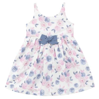 Imagem 1 do produto Vestido curto para bebe em tricoline Flourish - Mini Sailor - 14724440 VESTIDO C/LACO TRICOLINE FLORAL ROSA-0-3