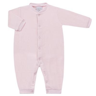 Imagem 1 do produto Macacão longo para bebe em plush Rosa - Tilly Baby - TB13172.10 MACACAO BASICO DE PLUSH ROSA-GG