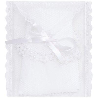 Imagem 3 do produto Meia para bebê branca bordada Flores - Roana - 406-A Meia branca bordada Flores-M