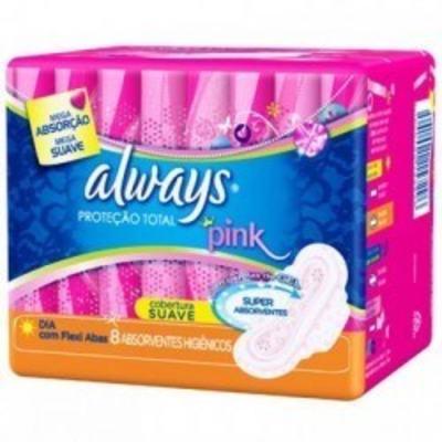 Imagem 1 do produto Absorvente Always Pink Dia Cobertura Suave Flexi Abas c/8 Unidades