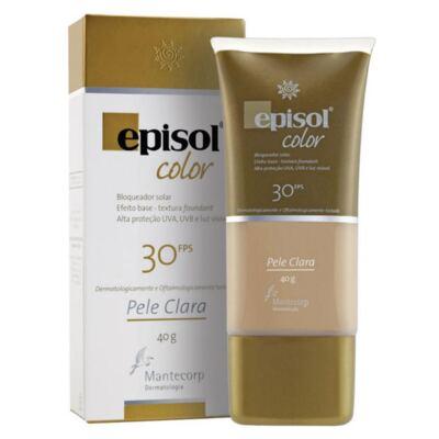 Imagem 1 do produto Protetor Solar Episol Color Pele Clara FPS 30 Mantecorp Skincare 40g
