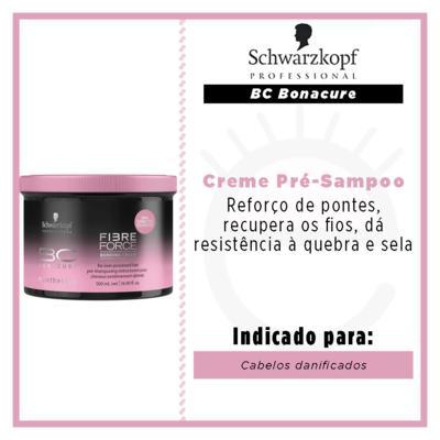 Imagem 2 do produto Creme Pré-Sampoo Schwarzkopf - BC Bonacure Fibre Force Bonding Cream - 500g