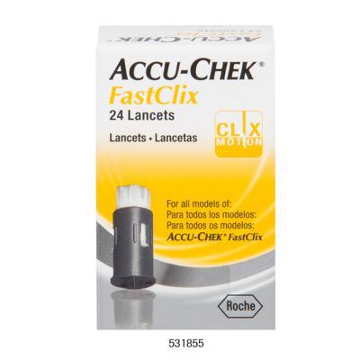 Imagem 1 do produto Lancetas Accu-Check FastClick Roche 24 Unidades