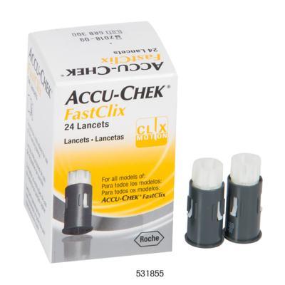 Imagem 3 do produto Lancetas Accu-Check FastClick Roche 24 Unidades