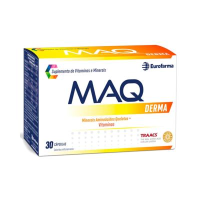 Suplemento de Vitaminas e Minerais - Maq Derma   30 cápsulas
