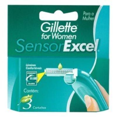 Imagem 1 do produto Carga Gillette Sensor Excel Feminino C/3 unidades