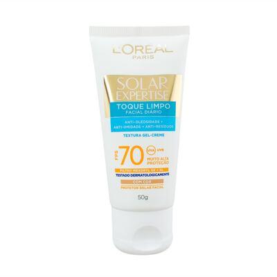 Imagem 1 do produto Protetor Solar Facial com Cor L'Oréal Expertise Toque Limpo FPS 70 50g